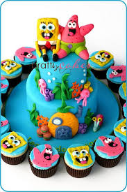 Spongebob Patrick Tower Aubreys 3rd Birthday Cake Cupcake