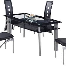 glass dining table black legs. global furniture usa 1058dt rectangular black glass dining table with metal legs dining-tables d