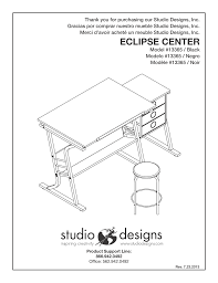 Studio Designs Eclipse Craft Center In Black Black 13365 Studio Designs Eclipse Craft Center User Manual 14 Pages