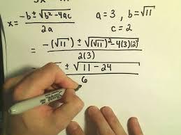 solving quadratic equations using the quadratic formula example 2 complex solutions