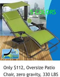 only 112 oversize patio chair zero gravity 330 lbs 5 colors