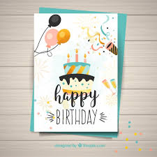 free happy birthday template template for happy birthday card vector free download