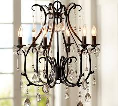 pottery barn chandelier pertaining to celeste decorations 2