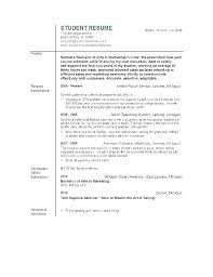 Student Objective For Resume Mazard Info