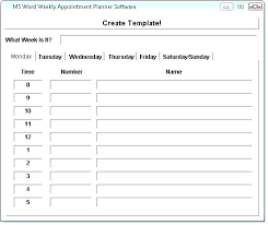 Appointment Calendars Free Appointment Schedule Templates Doc Free Premium Templates