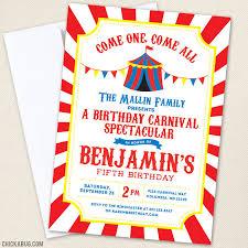 Carnival Birthday Invitations Carnival Or Circus Birthday Invitations