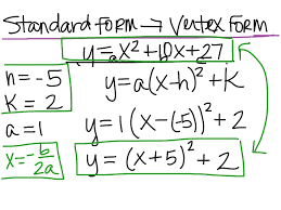 form to vertex form to standard form kays makehauk co