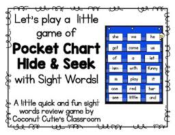 Hide And Seek Pocket Chart Game Dolch Sight Words