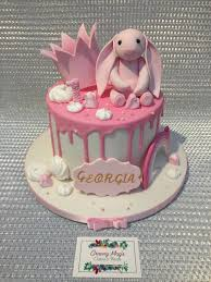 Little Girls 1st Birthday Cake The Bunny Is A Replica Of Her
