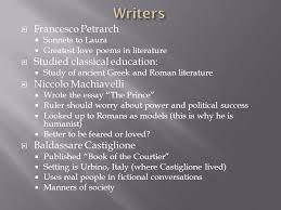 italian renaissance ppt 5 writers