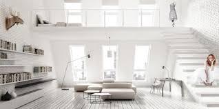Serene All White Living Room