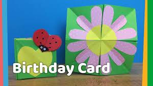 Diy Kids Birthday Card Diy Creative Birthday Card Idea For Kids Very Easy To Make At Home
