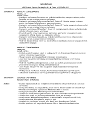 Account Coordinator Resume Samples Velvet Jobs