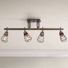 industrial track lighting fixtures. Pro Track® Bendlin Industrial 4-Light Bronze Track Fixture Lighting Fixtures