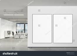 posters for office. Two Large Blank Vertical Posters On The Wall In Modern Office With Clipping Path Around Poster For