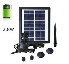 Solar Water Pump Kit With Led Lights Amazon Com 2 8w Solar Fountain Water Pump Kit With Battery