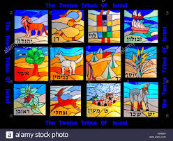12 Tribes Of Israel Month Chart Tribes Of Israel Stock Photos Tribes Of Israel Stock