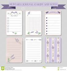 Notes Template Printable Printable Notes Journal Cards With Lavender Illustrations