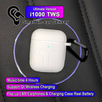 i1000 <b>TWS</b> In-<b>ear</b> Smart Sensor Wireless <b>Earphone</b> 8D Super...