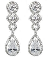 statement antique chandelier drop clip on earrings