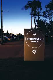 Hotel Signage Design Qt Gold Coast Hotel Minimalist Entrance Signage Design