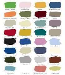 Annie Sloan Chalk Paint Color Chart Junktique Recycling