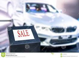 For Sale Sign On Car Generic For Sale Sign Mounted On The Windshield Of A Used Car Stock