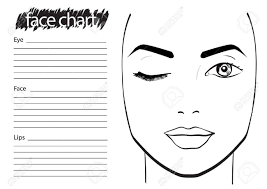face chart makeup artist blank template vector ilration stock ilration 61056421