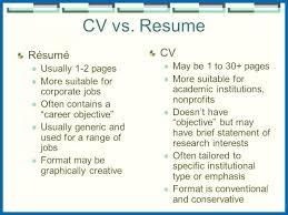 Cv Vs Resume Curriculum Vitae Reference Example Yralaska Allowed Gorgeous Cv Versus Resume