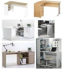 home office corner desk furniture. Image Is Loading Home-Office-Corner-Desks-White-gloss-Oak-Beech- Home Office Corner Desk Furniture