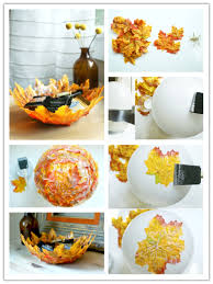 how to make a leaf bowl these are the best fall craft ideas