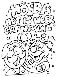 Kleurplaat Het Is Weer Carnaval Kleurplatennl