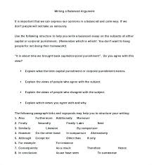 Example Of Argument Essays Example Of Debate Essay Argumentative Essays Example Balanced