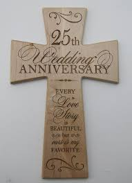 25th wedding anniversary maple wood wall cross gift for couple 25 year anniversary gifts for