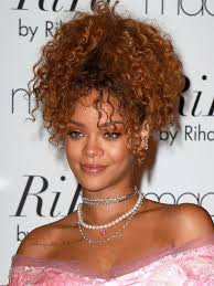 Hairstyles For Curly Hair 41 Wonderful PICS] Rihanna's Hair In NYC Get Her Super Curly High Updo