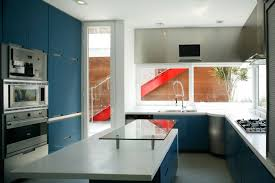 Marble Top Kitchen Work Table Kitchen Room Blue White Wall Inside Kitchen Can Be Decor Grey