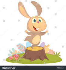 Cartoon Cool Little Bunny Rabbit Dancing Stock Vector 667284184 ...