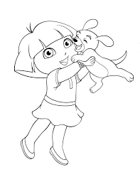 A large version of the printable dora the explorer coloring sheet will open in a new window. 27 Great Picture Of Dora Coloring Page Dora Coloring Animal Coloring Pages Puppy Coloring Pages