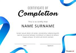 Sample Of Nursery Graduation Certificate Best Template For