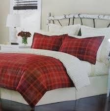 martha stewart appleton plaid cotton flannel king duvet cover red g1465