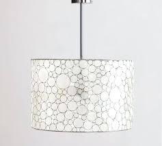 capiz shell drum pendant nib pottery barn marina drum pendant shell chandelier ship or p u capiz