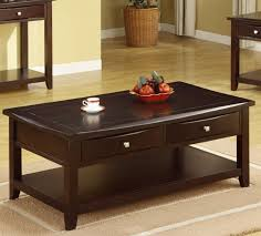 dark brown coffee table. Poundex F6221 Rich Dark Brown Coffee Table With Two O
