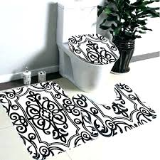 black and white bath rug damask bathroom rugs black and white bathroom rugs black and white