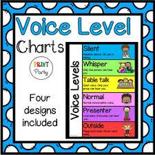 Voice Level Chart Classroom Noise Level A3 Voice Level