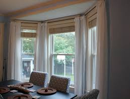 Custom Bay Window Curtain Rods Eyelet Ideas Drapery Hardware And Bay Window Blind Ideas