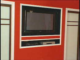 how to building a recessed home for flat screen tv