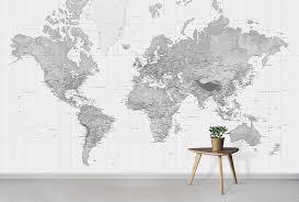 black and white world map wallpaper