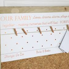Family Memo Board Wall Mounted 'Our Family' Memo Notice Board Melody Maison 24