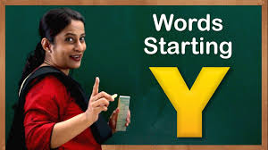 words starting with letter y