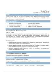 Resources Specialist Resume Digital Marketing Sample Hu Peppapp